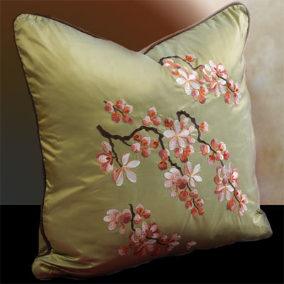 Pillows Decorative On Anali Blossom Embroidered Decorative Pillow