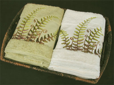Heavy Terry Towels Anali Woodland Collection Fern