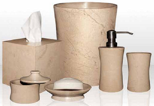 Marblecrafter Vinca Verona Beige Bath Collection - 7 pieces