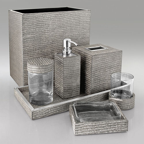 Silver bathroom accessories crowdbuild for for Silver bath accessories set