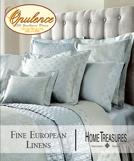 Opulence of Southern Pines & DUXIANA - Luxury Bed Linens & Down
